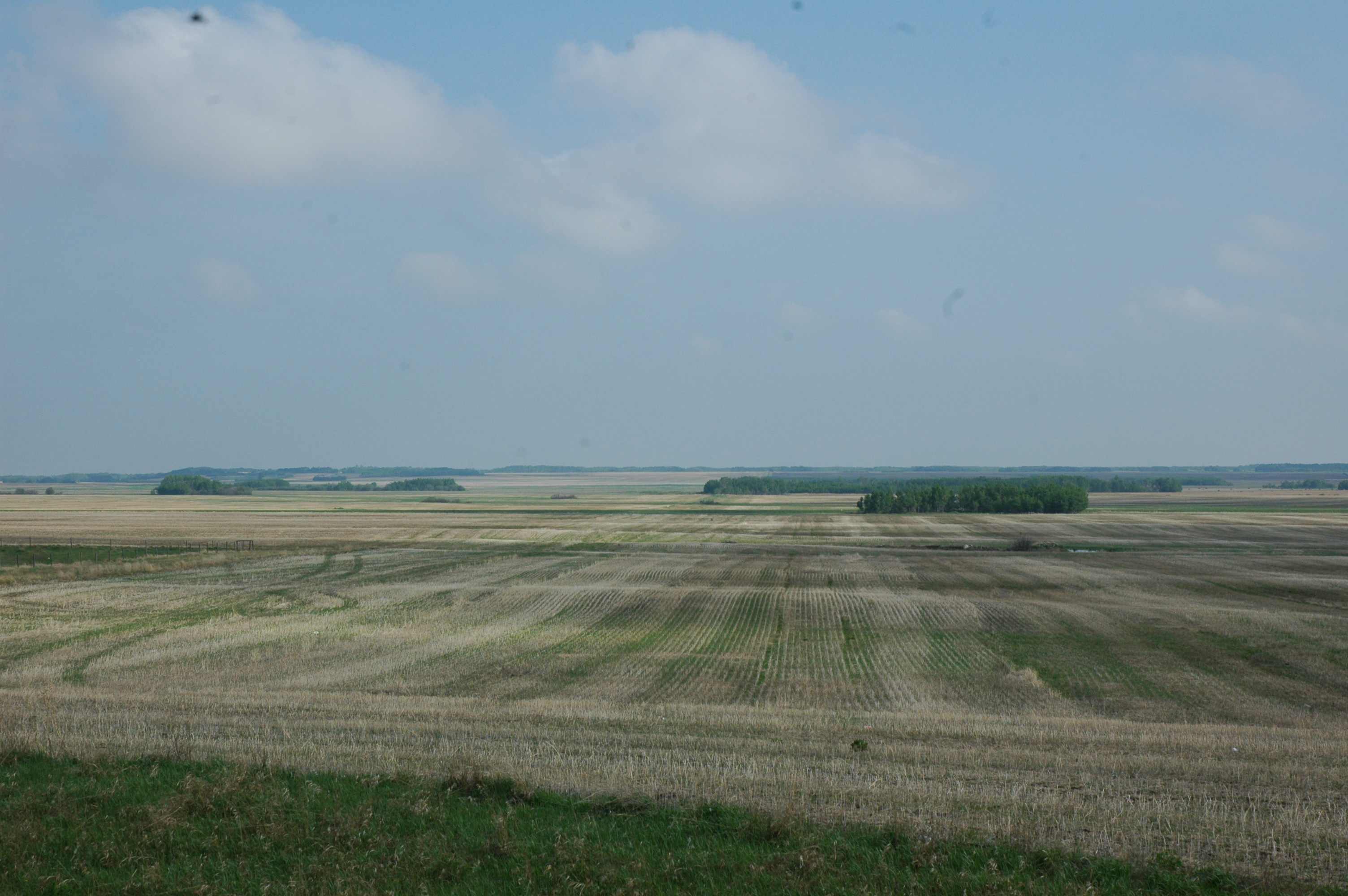 Canadian Prairies seem to go forever along the Trans-Canada Hwy