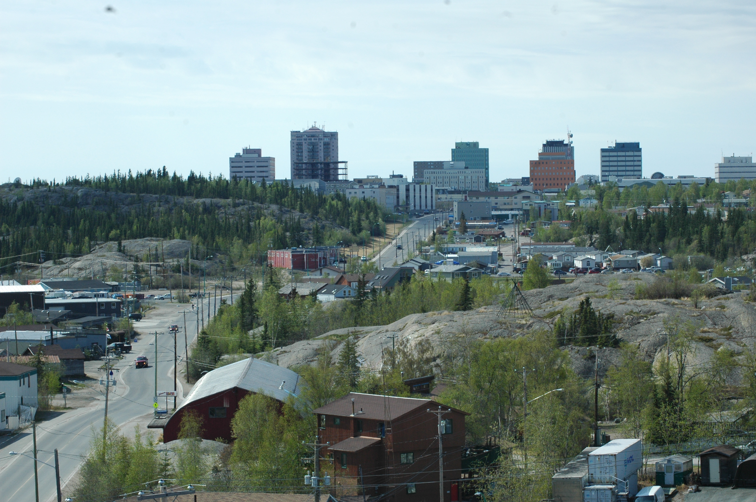 Yellowknife - New Town from the Rock
