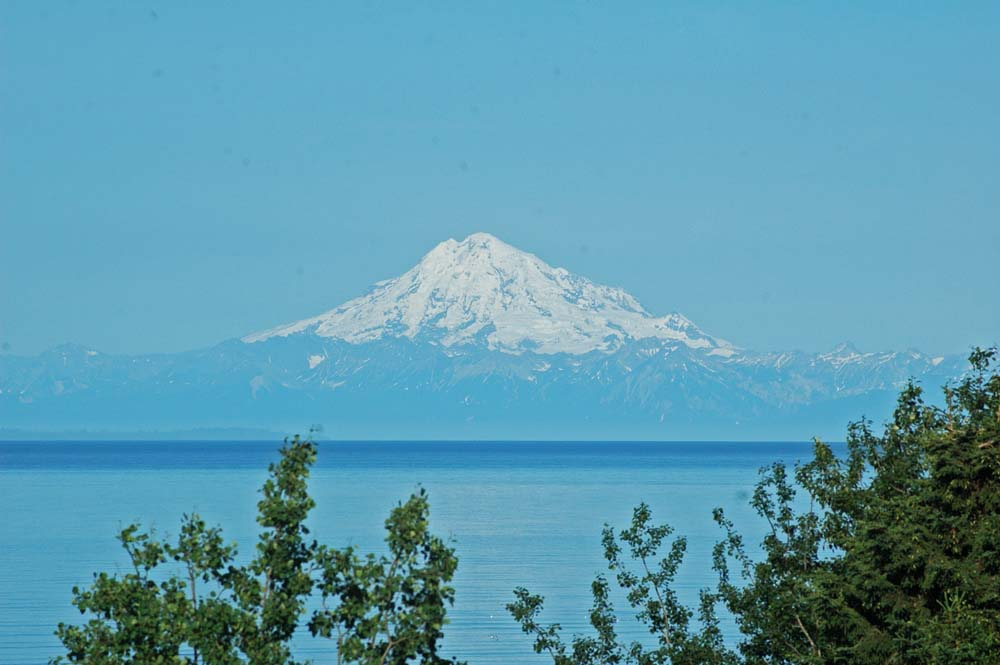 Kenai RV Park View - MT Redoubt One of Four Sleeping Giants  - Ring of Fire Chain