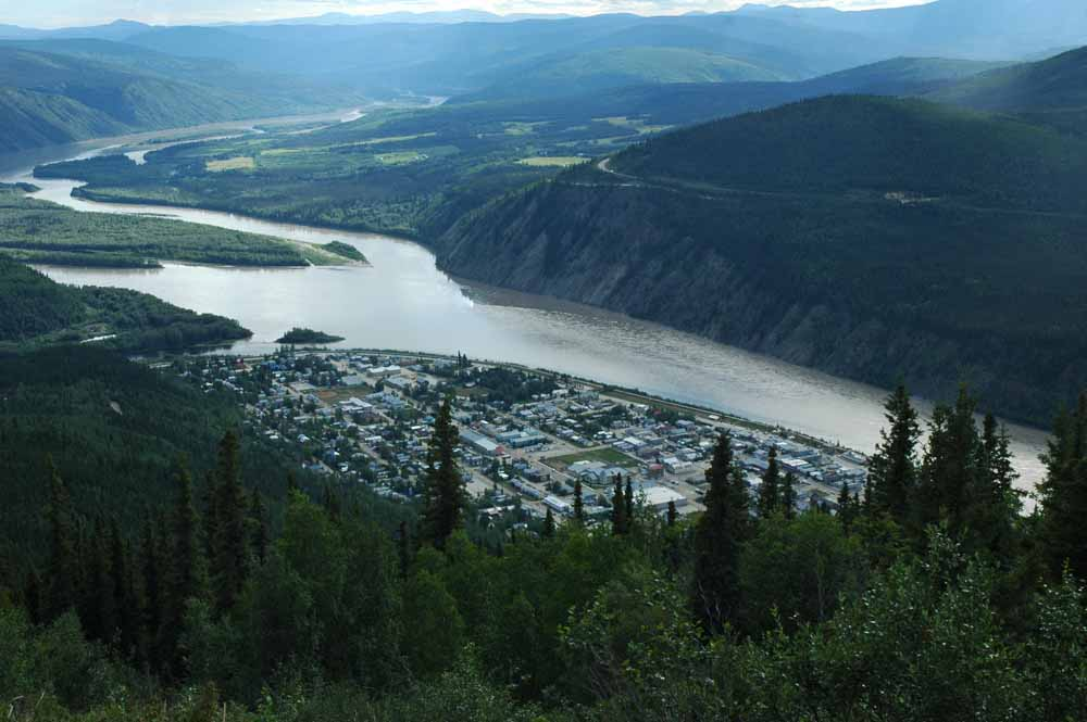Dawson City Looking up the Yukon River Towards Whitehorse