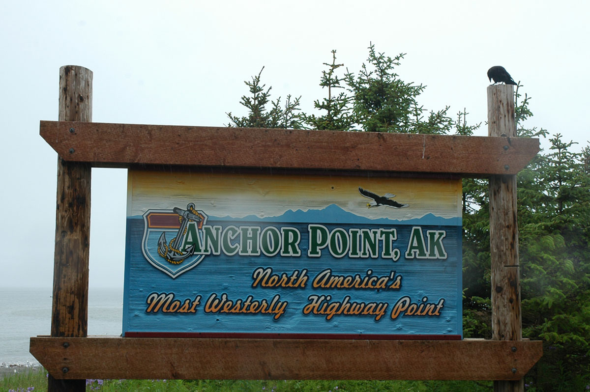 Anchor Point on Kenai Peninsula  (Another Notch in the Travel Log)