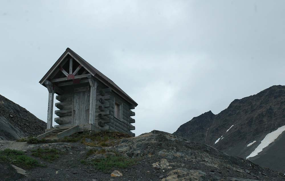 Exit Glacier Trail - Near the Top - Emergency Shelter