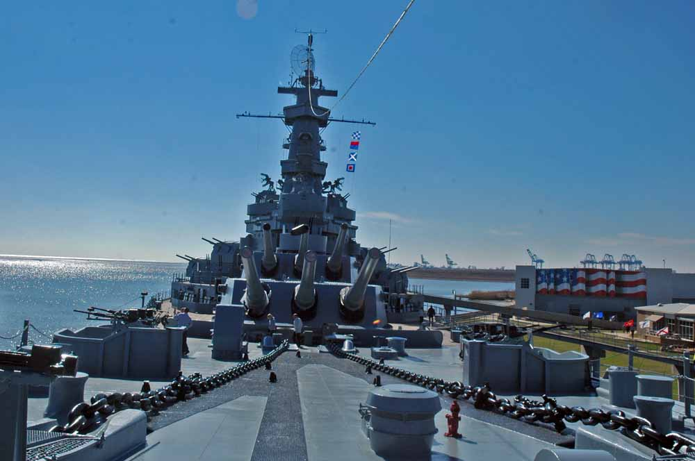 USS Alabama at Mobile