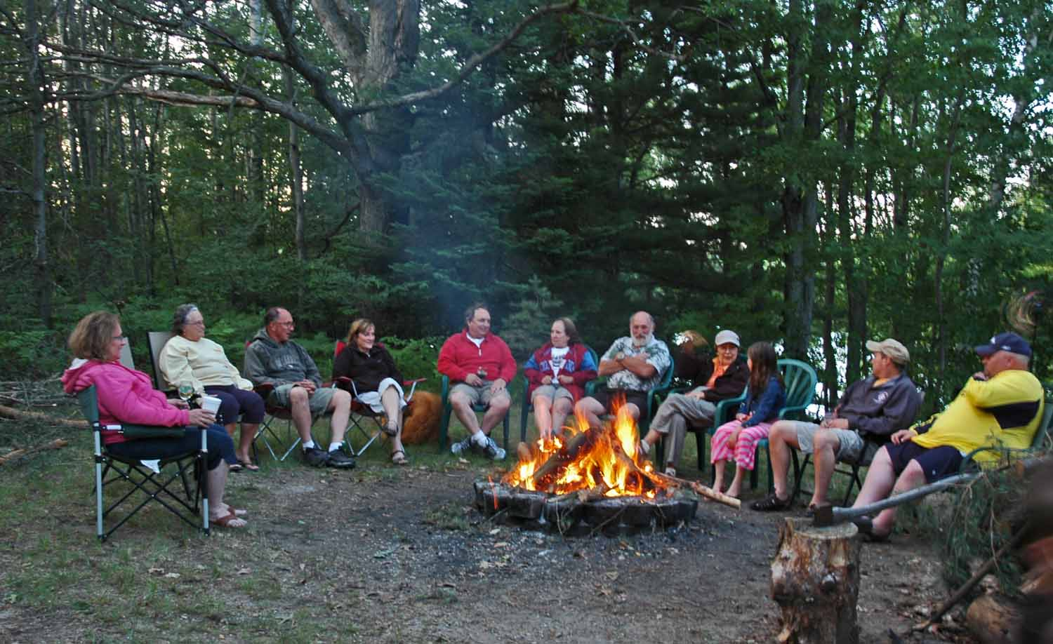 Snyder campfire the last night - Sister Marilyn far left