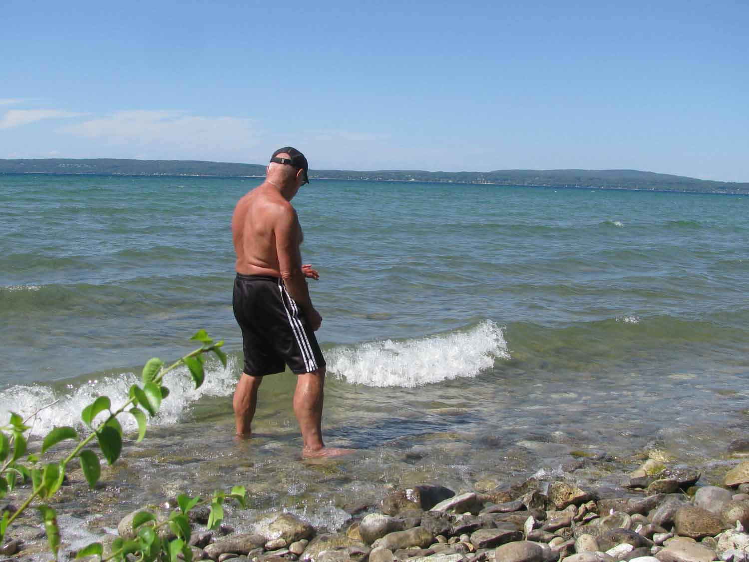 Hunting for Petoskey Stone in Little Traverse Bay