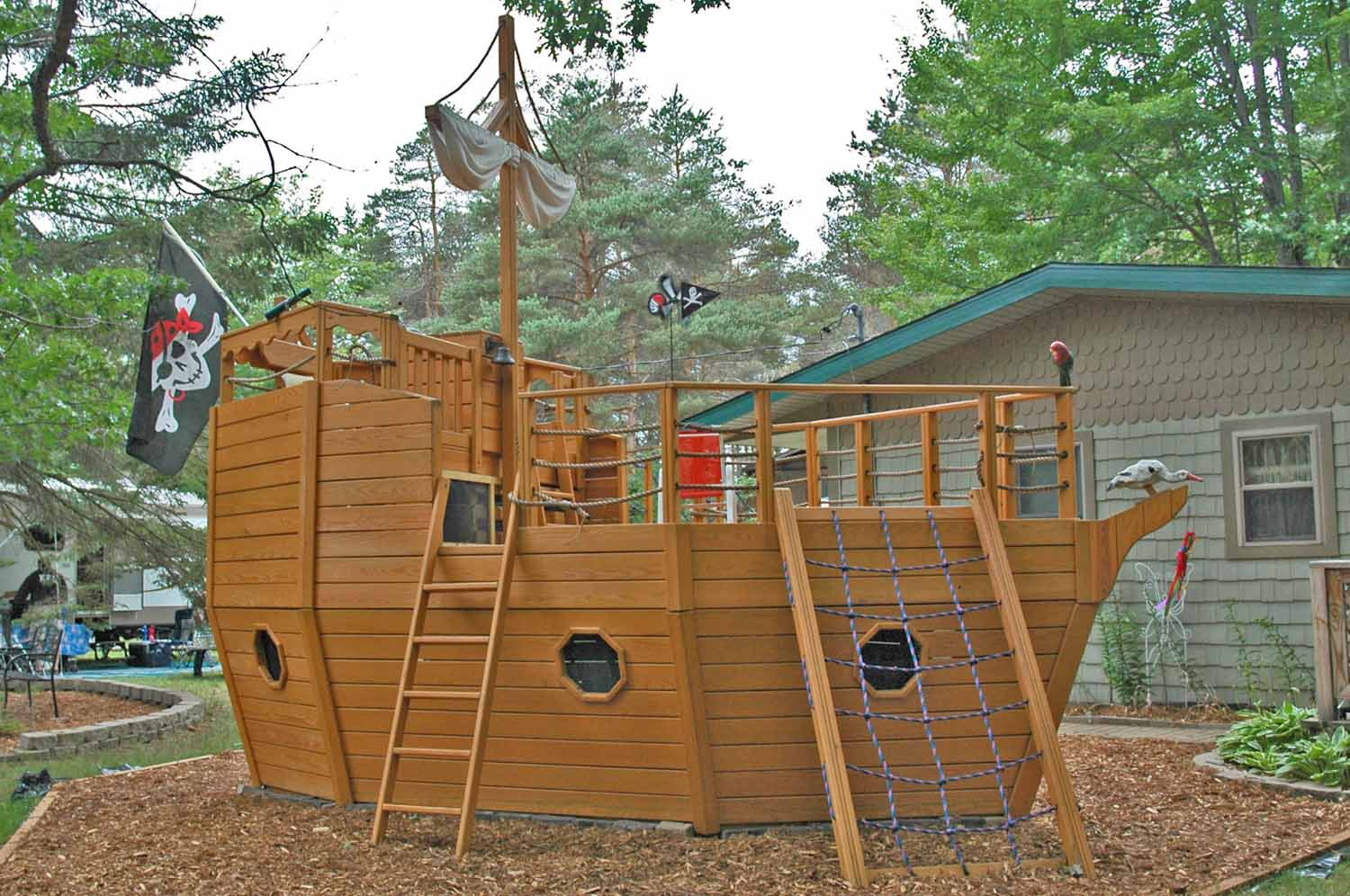 The Pirate Ship...the project from last year's gathering.  Still looking good!