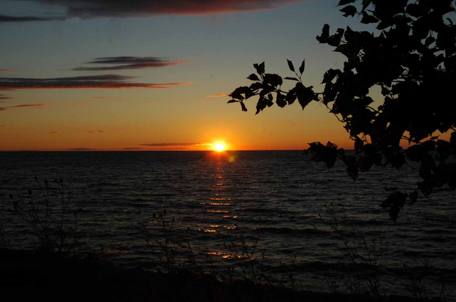 Sunset over Little Traverse Bay at Petoskey Magnus Park