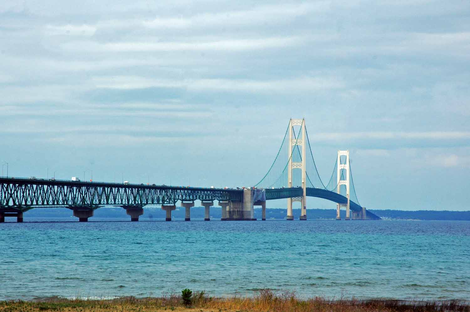 A stop to view the Mackinac Bridge is a must