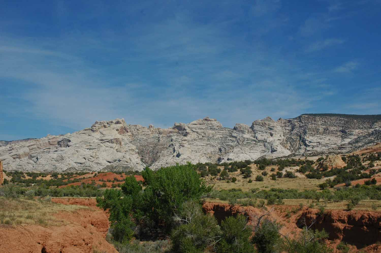 View near the campground - red rock and granite mountains