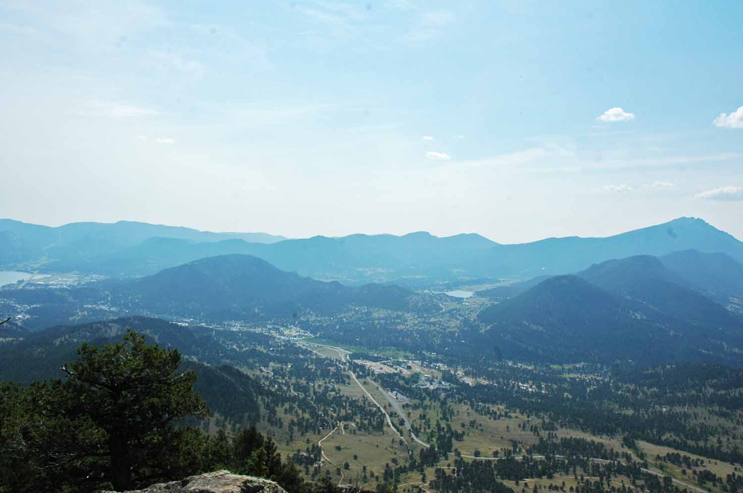 Estes Park from top of Deer Mountain