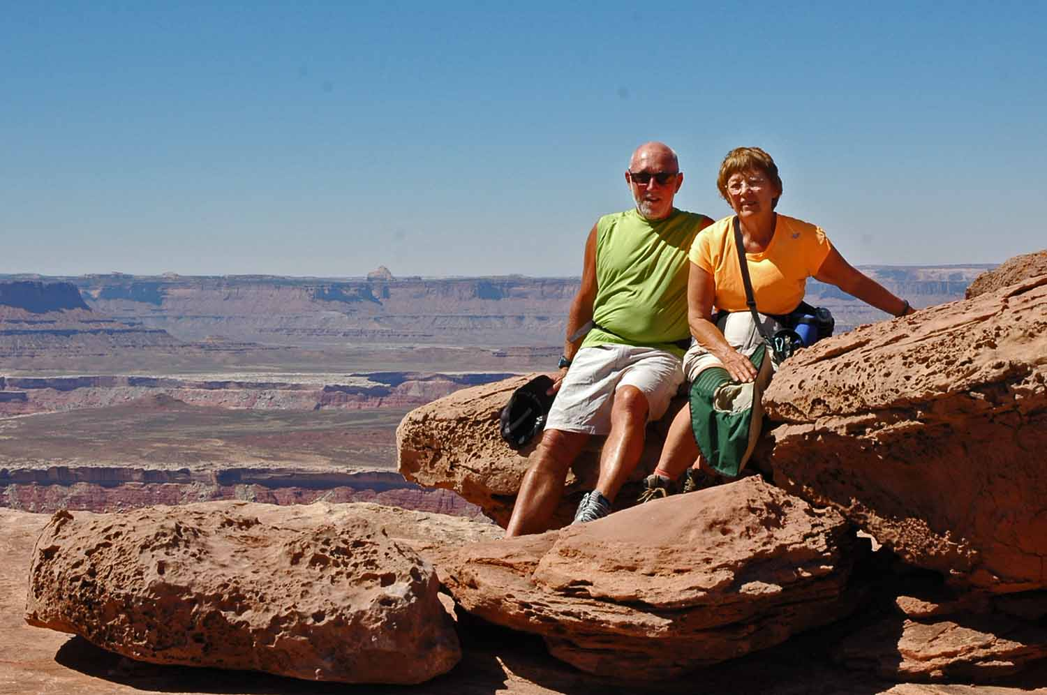 Relaxing at the top - Canyonlands
