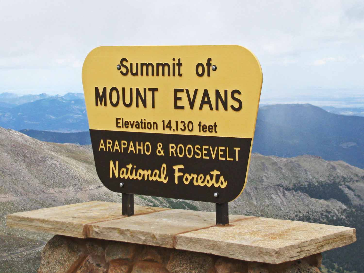 Duane and Bobbi took us to the top of Mount Evans