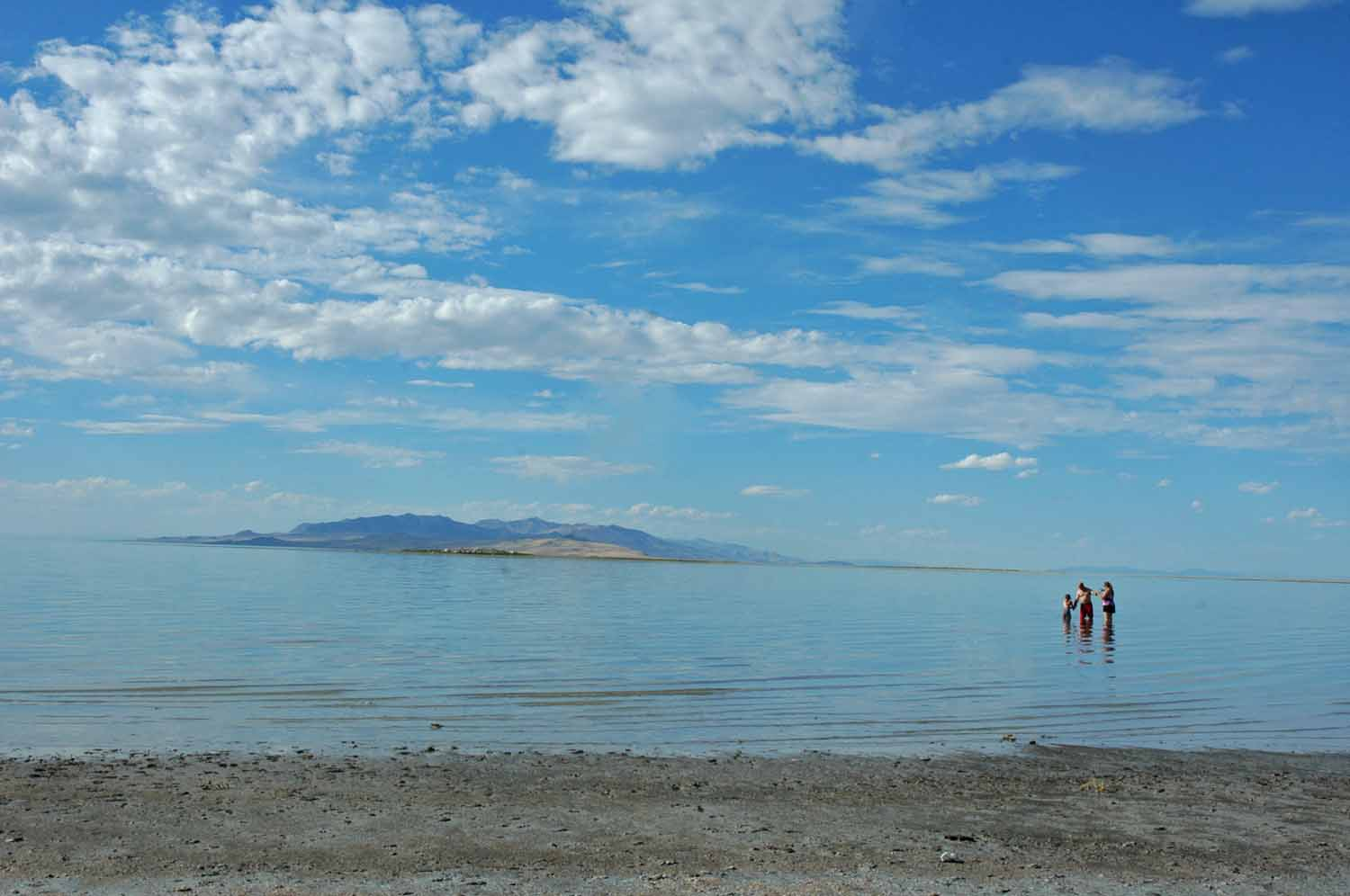 Yes, I got in the Great Salt Lake - It is salty and not very nice