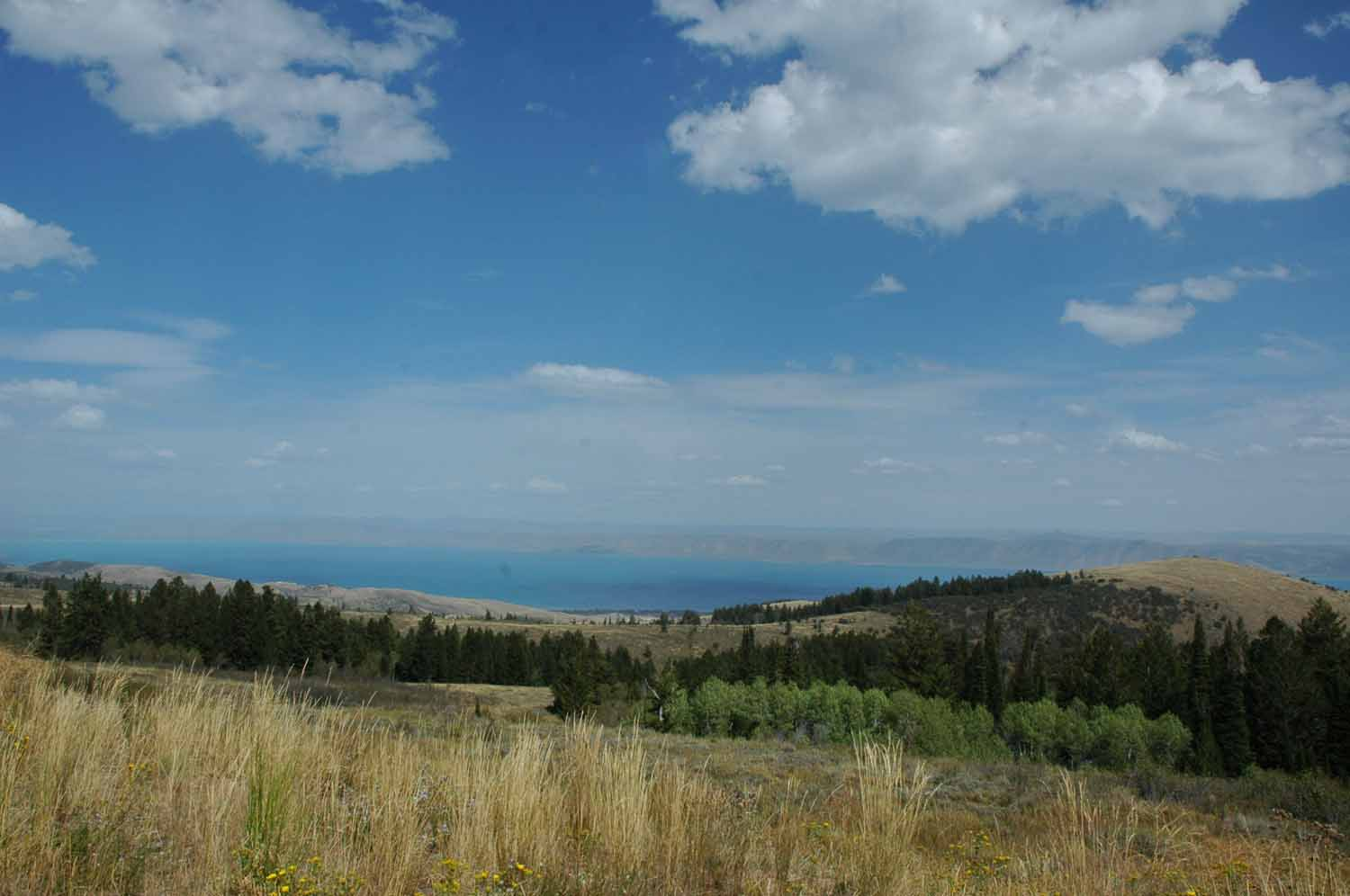 Bear Lake in Utah and Idaho at the end of the Logan Canyon Highway - Very large and beautiful