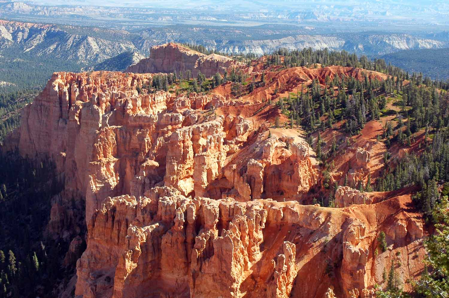 Bryce Canyon drive...many trails closed due to rock slides the day we were there