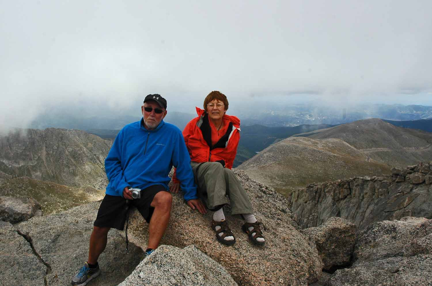Here we are at 14,000 feet on Mt Evan, Colorado