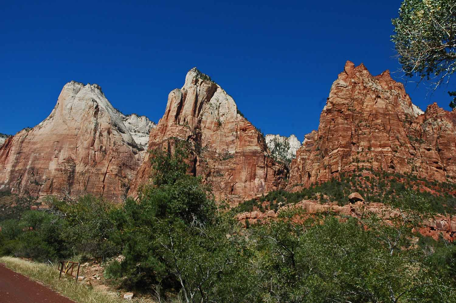 Zion National Park Patriarchs;  The peaks of Abraham - Isaac - Jacob.  Yes there is a story