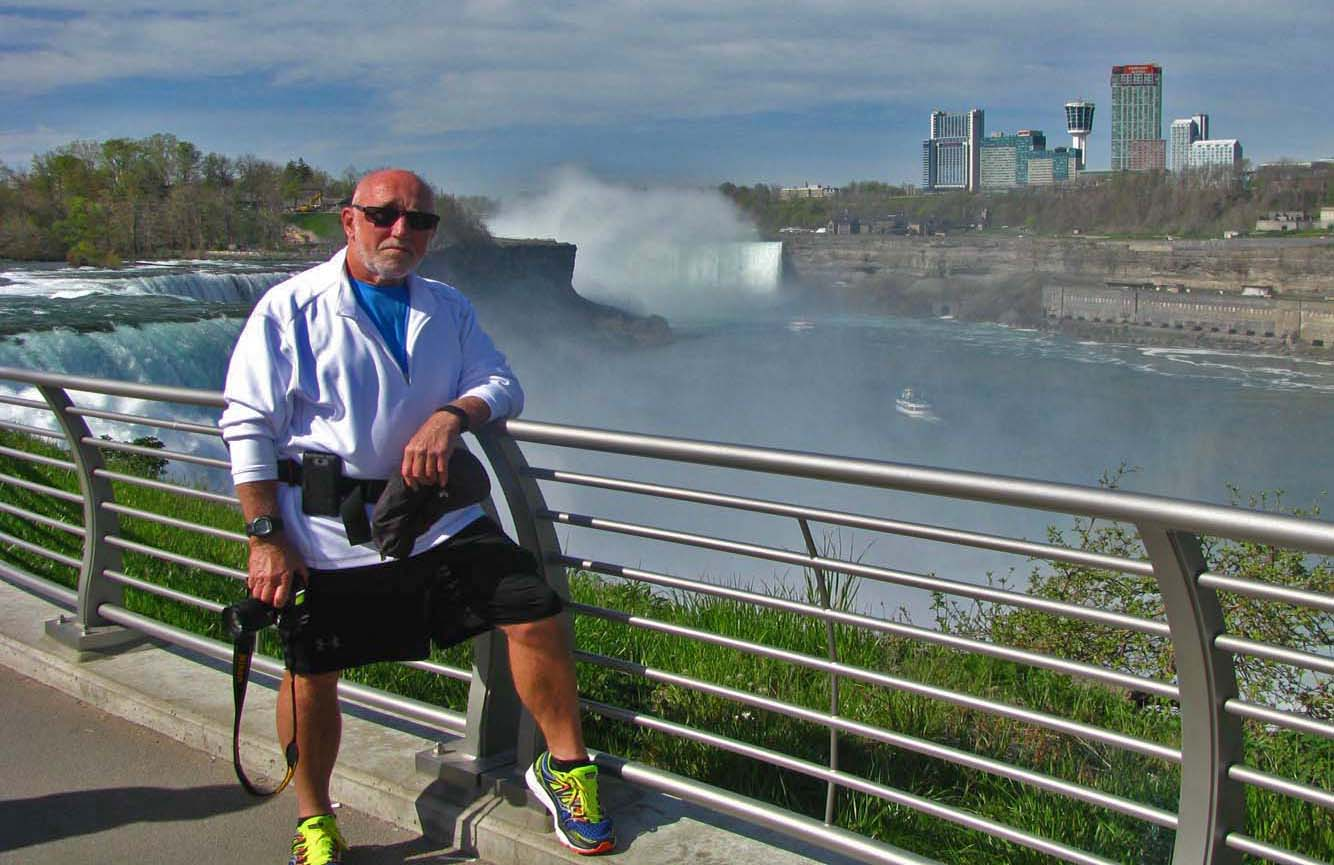Larry at Niagara Falls
