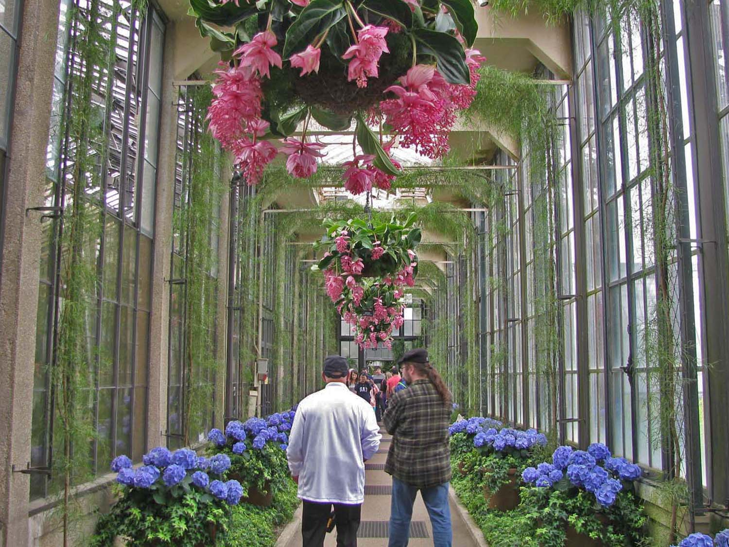 Larry and Paul enjoying the day at Longwood Gardens