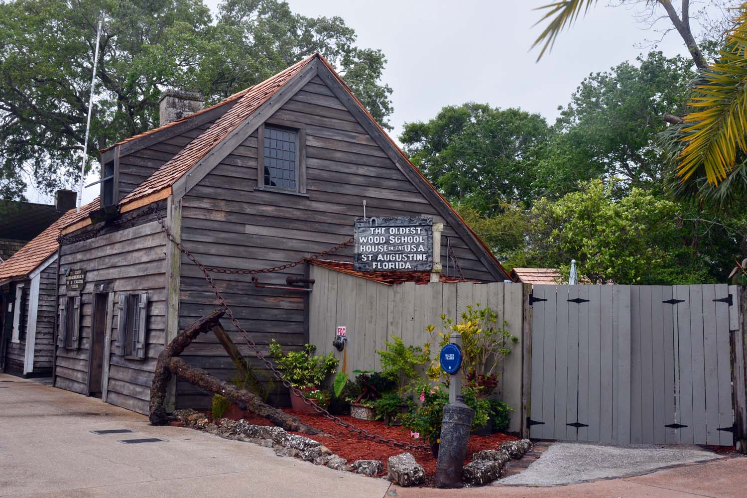 The oldest wooden school house is in St Augustine