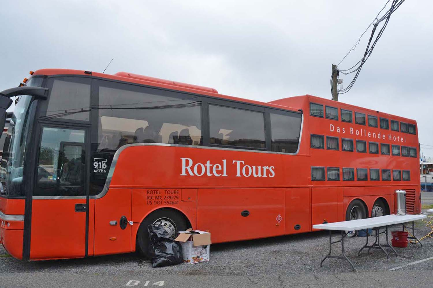 Rotel tour bus is an interesting concept for group travel