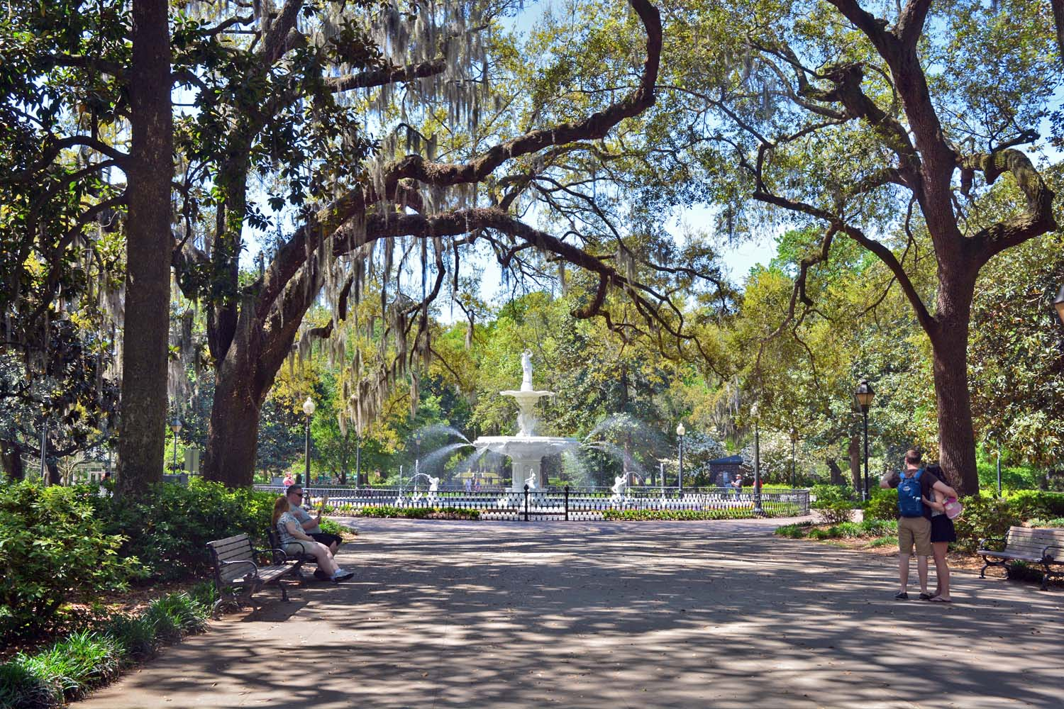 Forsyth Park, a 30 acre park in Savannah's historic district