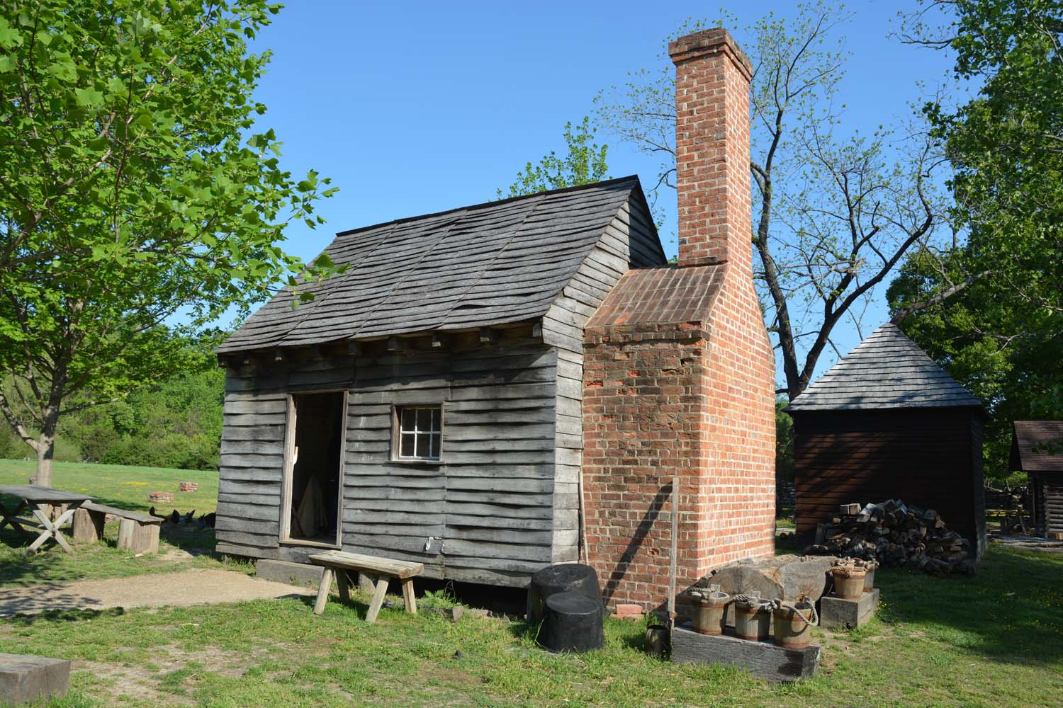 Slave quarters up to 10 people would occupy a house this size