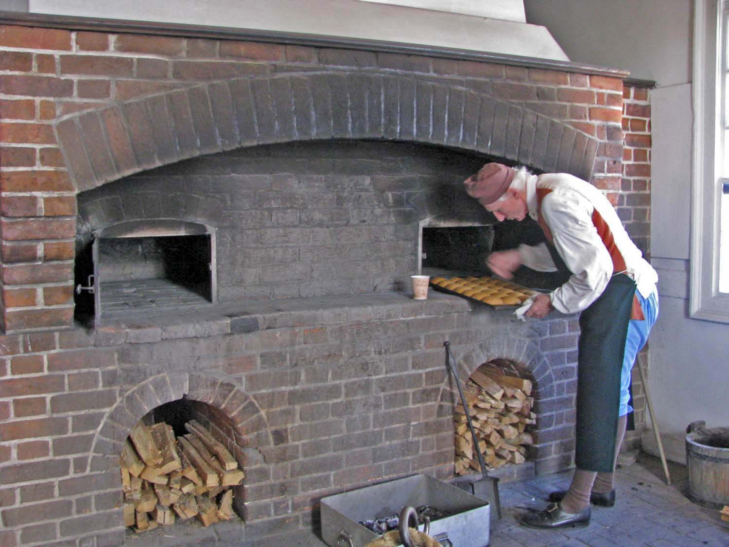 This Baker has been making cookies here in this wood fired oven for a long time