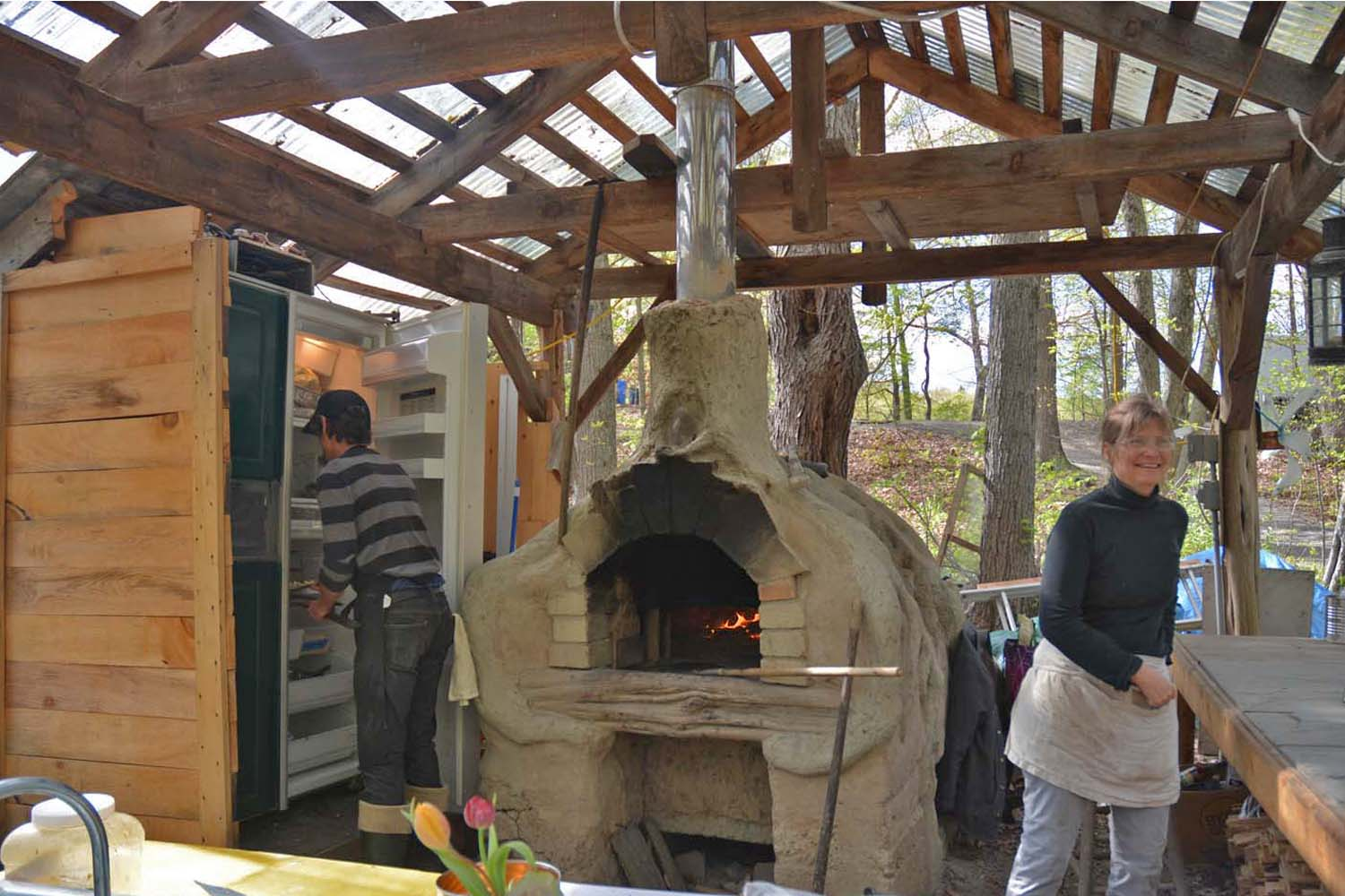 Pizza oven along the Wallkill Bike Trail