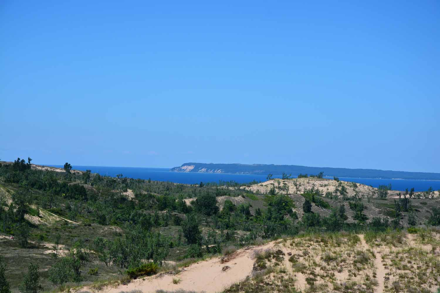 Dunes Looking Toward Manitou Island
