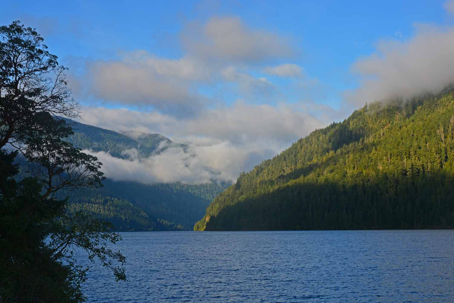 Another picture of Lake Crescent at the end of the day on our way back to base camp.