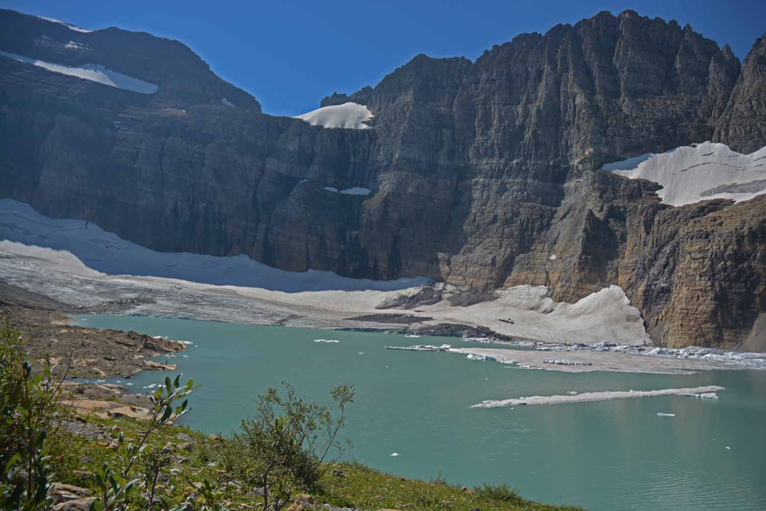The Grinnell Glacier comes into view upfront and personal
