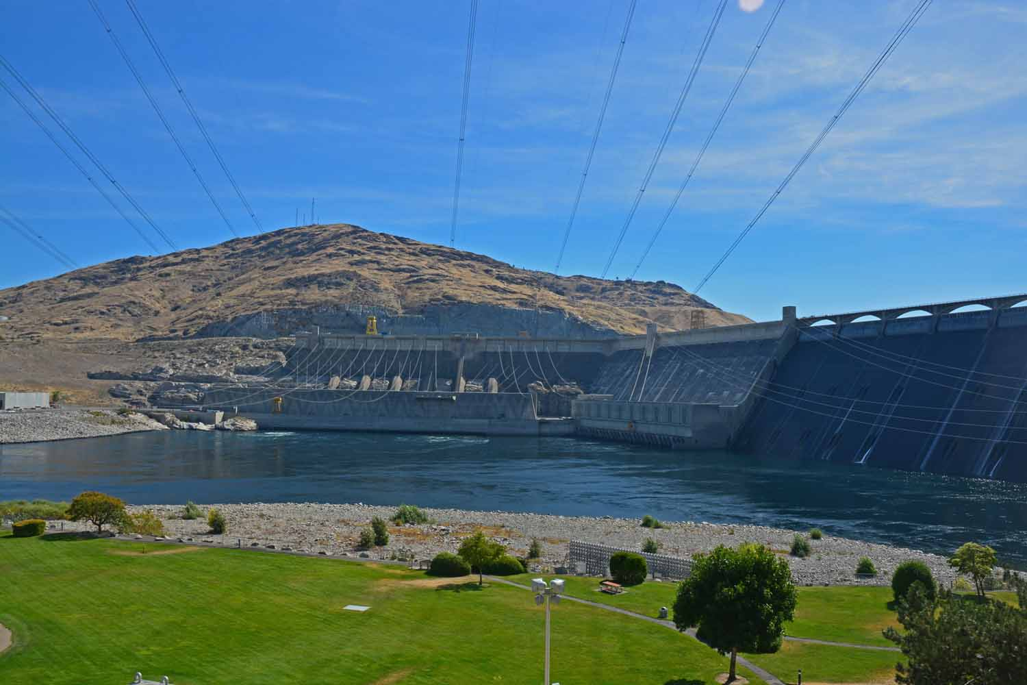 The Coulee Dam is a mile long...
