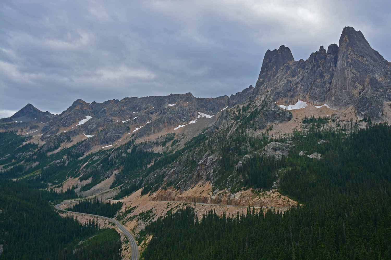 The views are best on the Cascades Highway driving west