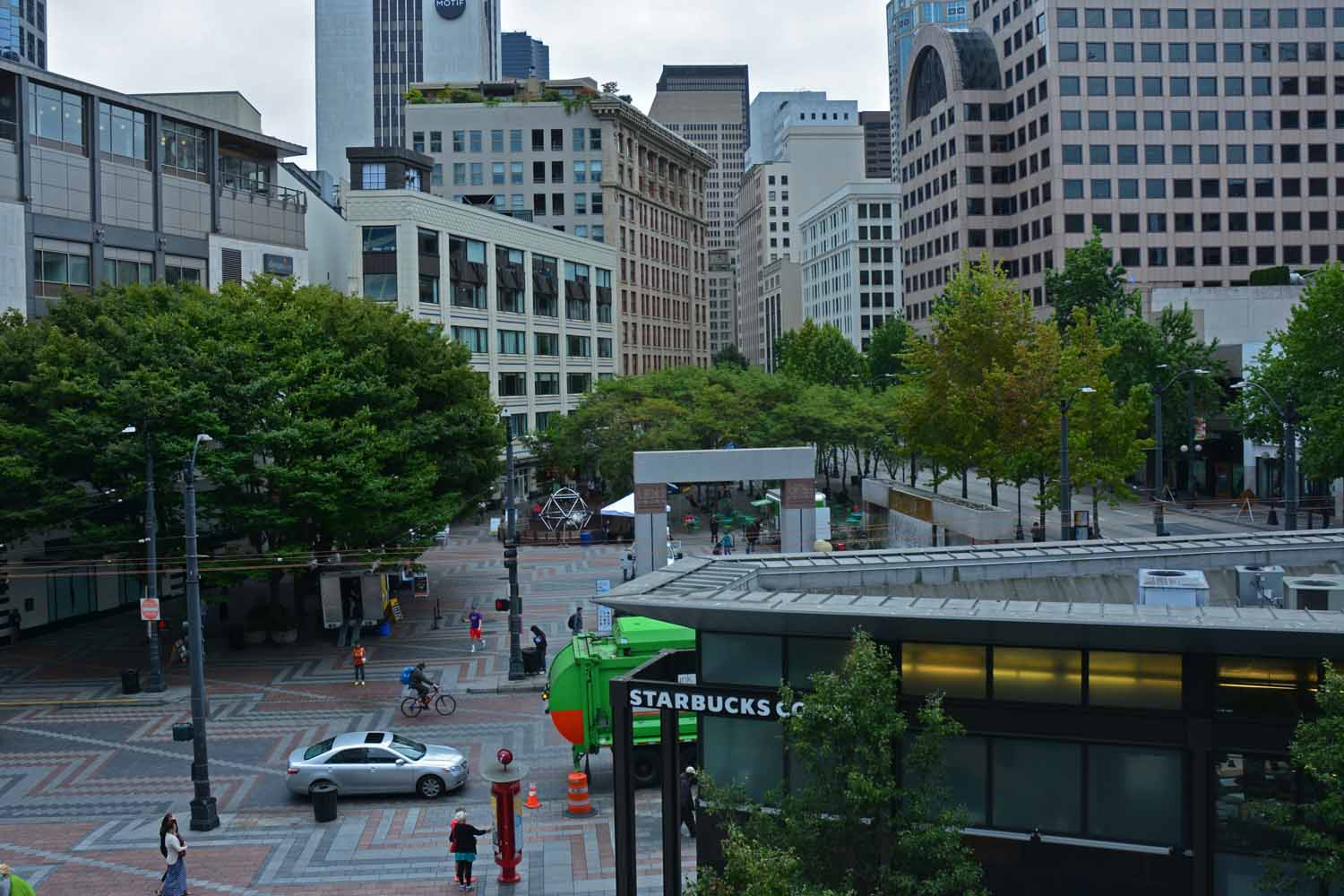 Next stop was downtown Seattle.  The downtown square.