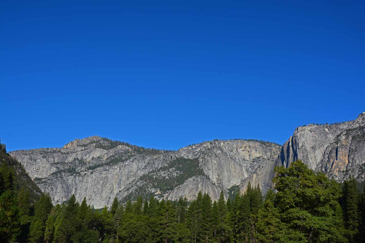 Taken from the valley floor.  The beauty of the Yosemite NP is breathtaking.