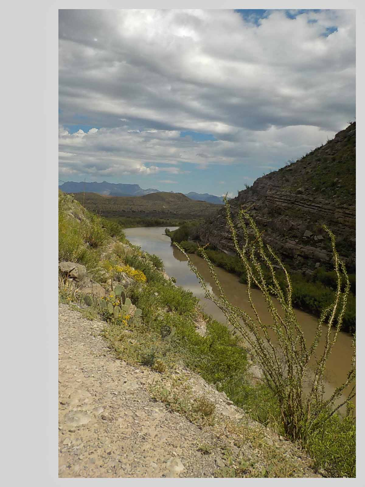 Our route to the Big Bend National Park was down Texas highway 170.  Recommend this picturesque route along the Rio Grande and the Mexican border.