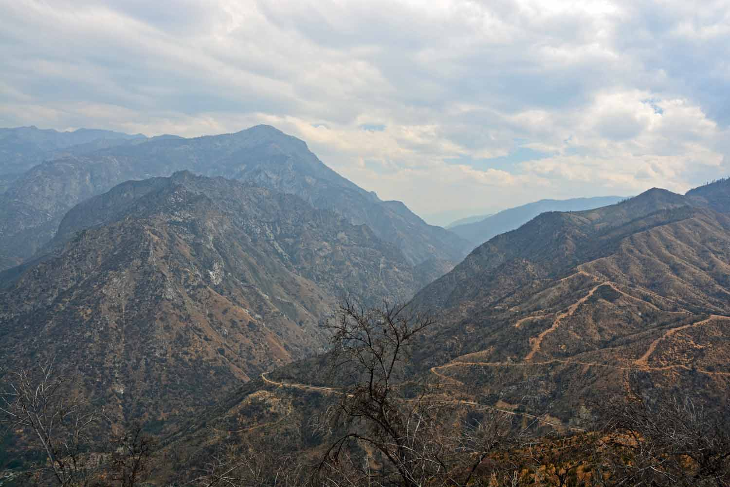 I liked this perspective.  You can see the haze from the California fires which gives the distance views a certain soften edge.