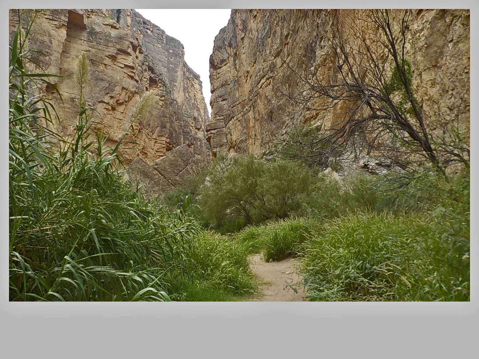 Santa Elena Canyon...hiking the trail.