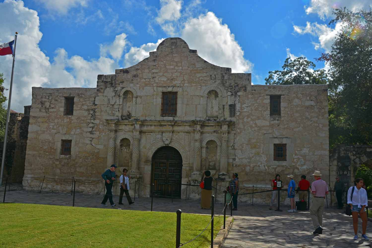 Lots of history at the Alamo...