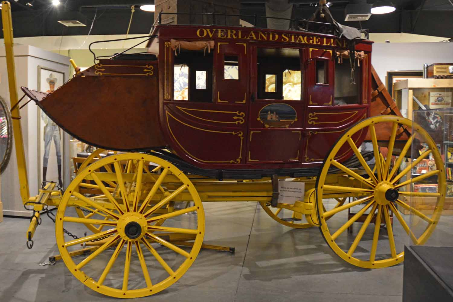 Lots of old cars from the movies and the stage coach that was used in many films are on display.