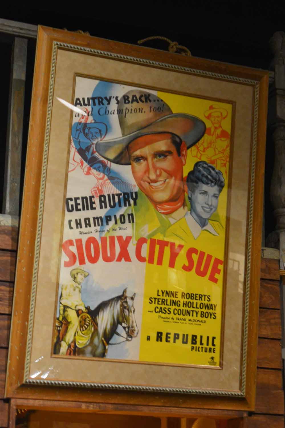 Oh Ya...then there was Gene Autry the singing cowboy.