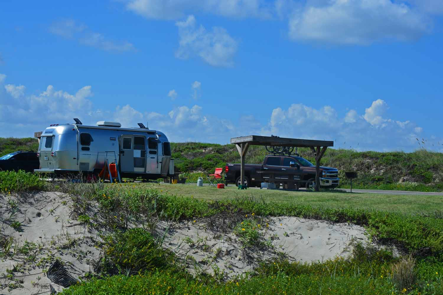We love being at Padre...we even had a fun RV site.