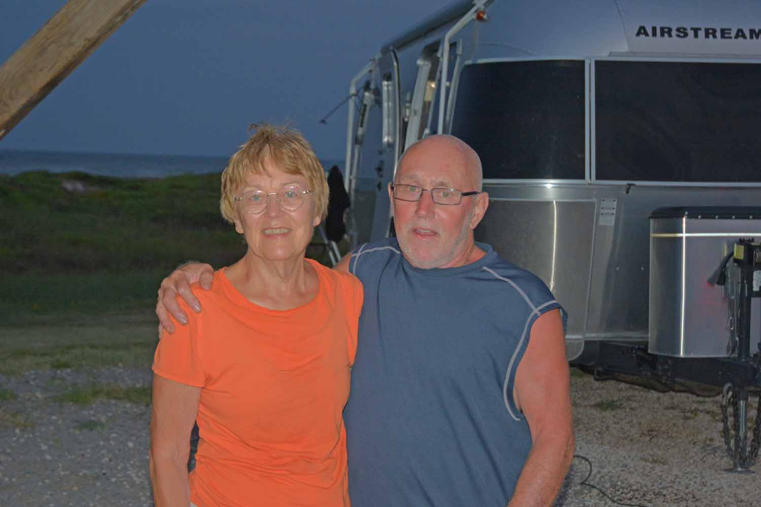 Two road warriors...celebrating their 50th Wedding Anniversary in Texas on North Padre Island