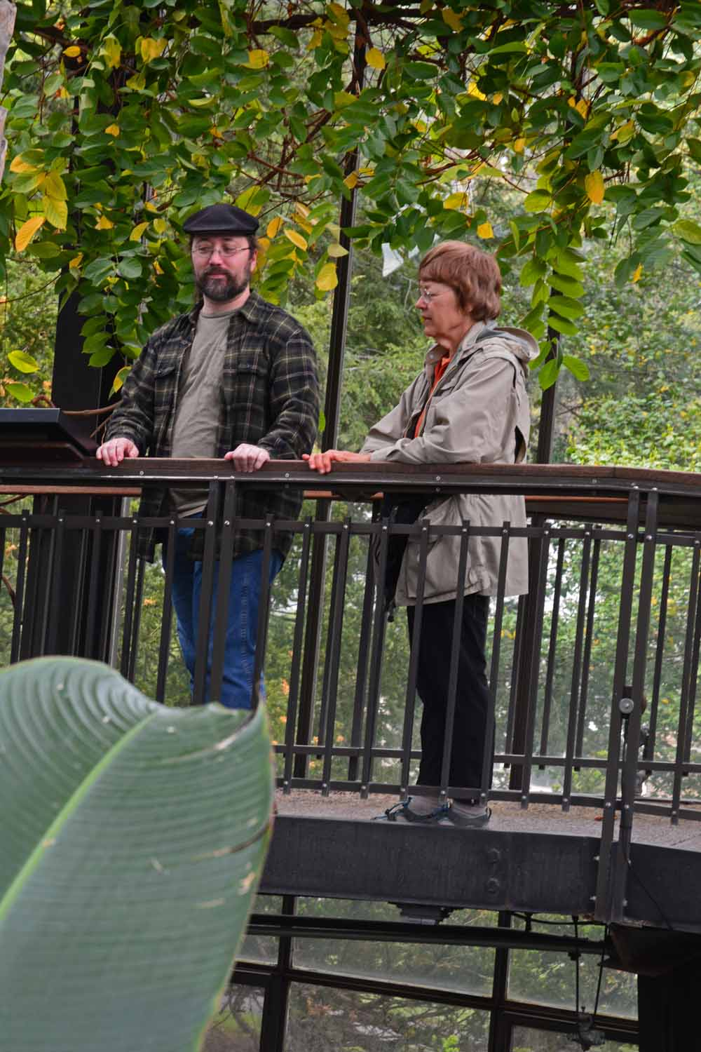 Jan and Paul taking in the sights at Longwood Gardens