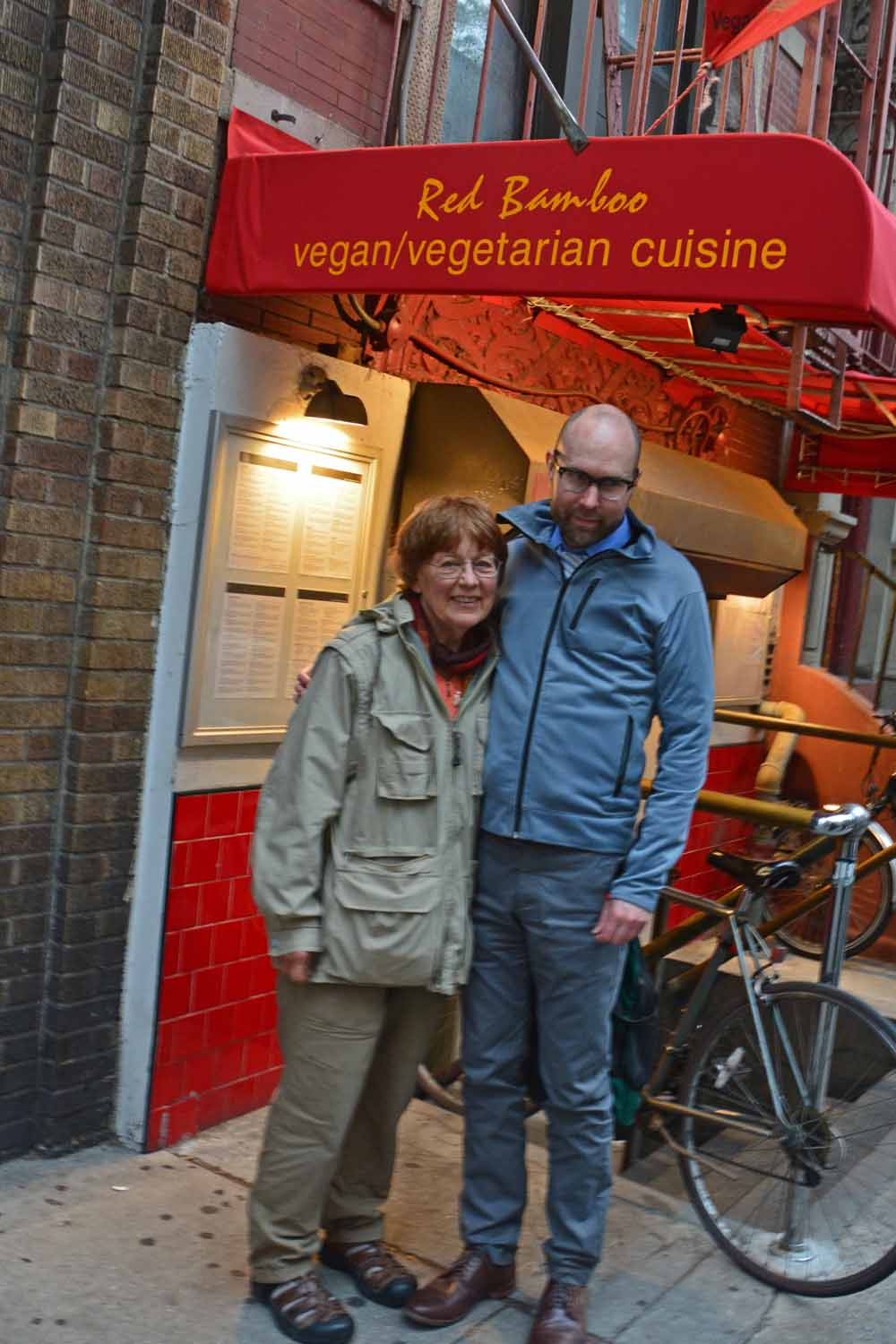 Jan and Karl liked this place as it was truly  Vegan