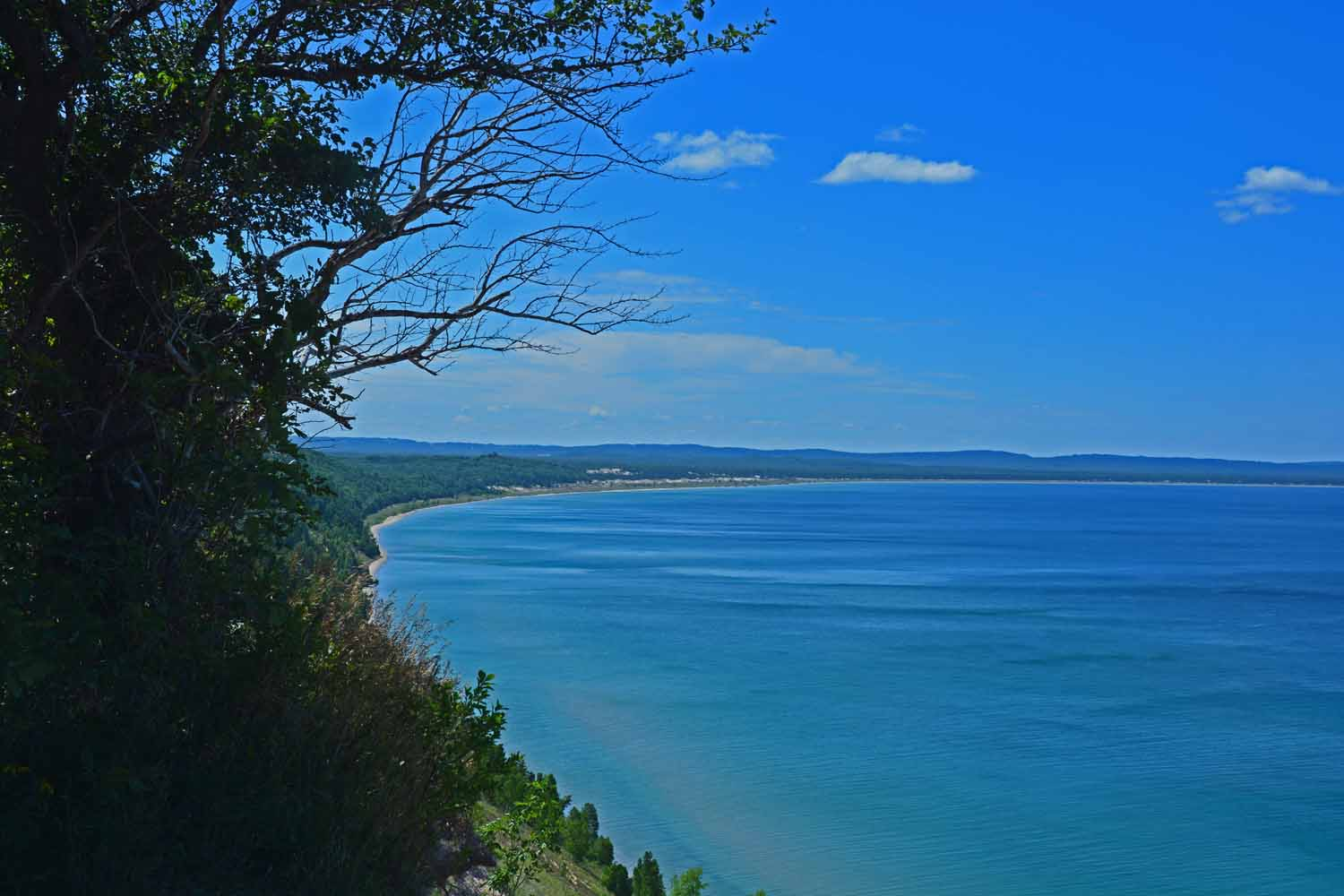 It is easy to find great views of Lake Michigan...much bluer than the Gulf of Mexico