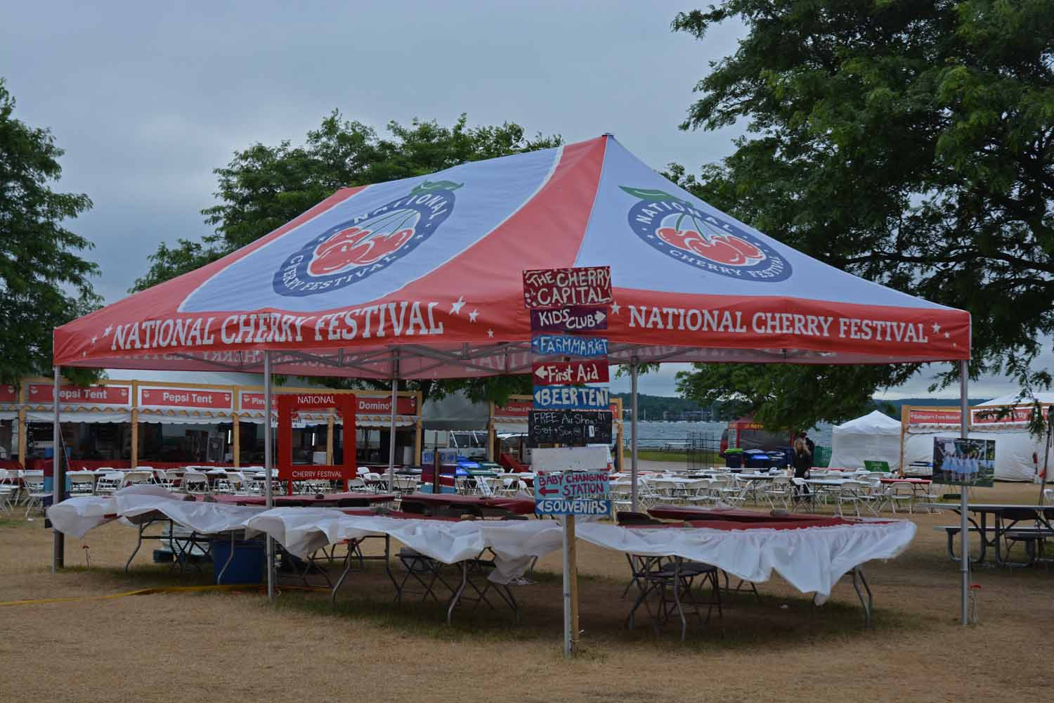 When in Traverse City in July it is hard to escape the National Cherry Festival