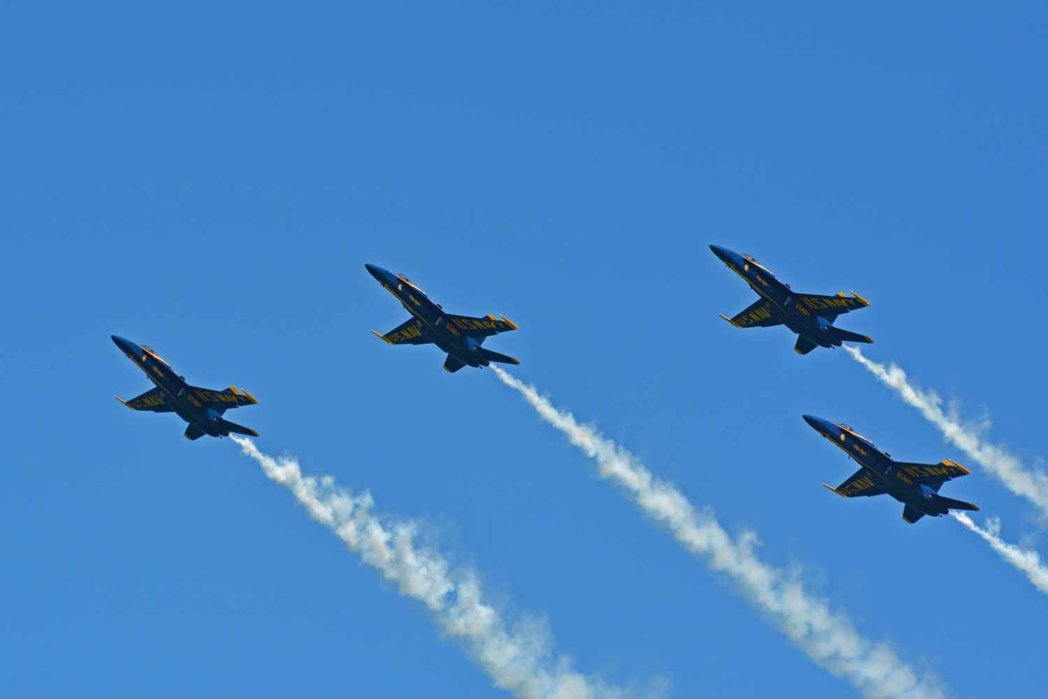 This year we did all three shows for the Blue Angels...