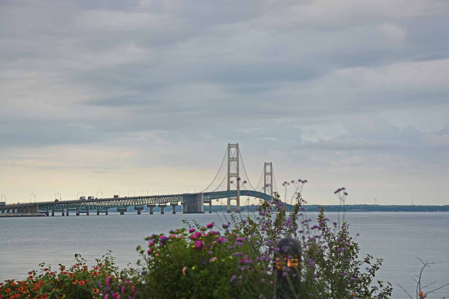 The Mackinac Bridge is the gateway to the north and an escape route to the wilderness of the Upper Peninsula of Michigan and if you are brave, Canada